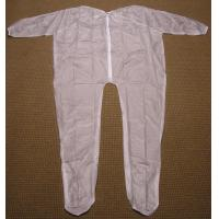 Buy cheap 4Mil 5Mil 6Mil Thickness Clear or White Mortuary Garments Vinyl Unionalls Heat from wholesalers