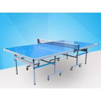 Wholesale Easy Install Blue Ping Pong Table , Aluminum Ping Pong Table Movable With Logo from china suppliers