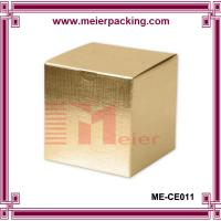 Wholesale Flat pack gold foil one piece candle gift box folding box ME-CE011 from china suppliers