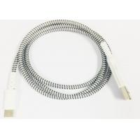 Wholesale Micro / Lightning / Type-C Grey Plastic Head Braided High Gloss Braided Charging & Sync Cable from china suppliers