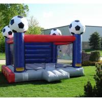 Wholesale Kids Sport Game Soccer Blow Up Bounce Houses With Safety Net from china suppliers