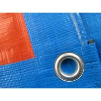 180gsm blue/orange PE tarpaulin sheet with eyelets and pp rope reinforced for sale