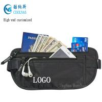 Wholesale Mens RFID Hidden Ripstop Nylon Money Belt Travel Black Color from china suppliers