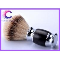 Wholesale Hand made silvertip badger shaving brushes with real black ebony handle from china suppliers