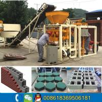 China Medium size factory QT4-24B semi auto hollow block solid brick molding machine line with molds changeable for sale