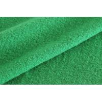 China Green Color Medium Weight Boiled Wool Fabric For Blazer Without Washed on sale