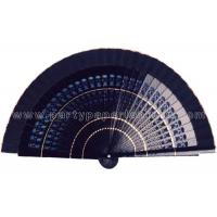 Wholesale Solid Color Painted Wooden Hand Fan Hollowed Out Ribs , Craft Fan from china suppliers