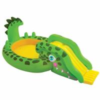 Wholesale Custom Size Kids PVC Gator Inflatable Swimming Pool Green And Yellow Color from china suppliers