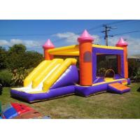 Wholesale Children Double Lane Inflatable Combo Castle Bounce House with Slide from china suppliers