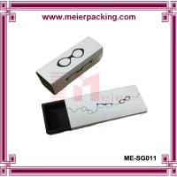 Wholesale Sunglass paper boxes/Logo printed paper drawer box/White cardboard paper box ME-SG011 from china suppliers