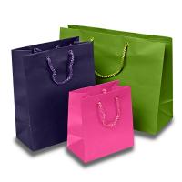 Wholesale Matte Colored Jewelry Gift Bags Aqueous Coating Technics For Shopping from china suppliers