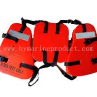 Three Piece Sea Working Life Jackets for oil workers/oil rig pvc foam working life jacket