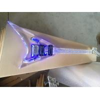 Quality Full Transparent LED inlay plexiglass crystal acrylic Electric Guitar for sale