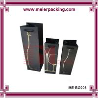 Wholesale China Supplier customized black art paper wine bottle carrying gift bag Wholesale from china suppliers