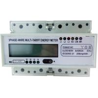 Buy cheap 35mm Din Rail Three Phase KWH Meter YEM421AC With LCD Display Six Indicators from wholesalers