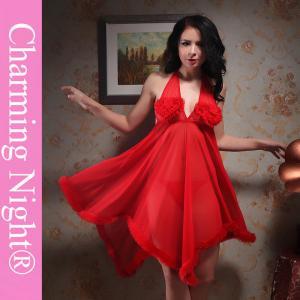 Wholesale Long Skirt Transparent Fur Edge Honeymoon Nightwear For Women Ladies from china suppliers