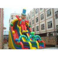 Wholesale Exciting Clown Durable PVC Commercial Huge Inflatable Slide Rental from china suppliers