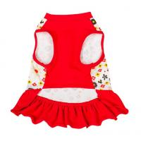 Quality red dog dresses summer / chinese dog clothes / dog party dresses for sale