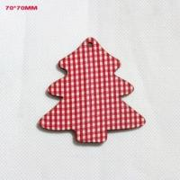 Wholesale Christmas Wooden Tree Decoration Xmas Tree Red Hanging Gift Tag from china suppliers
