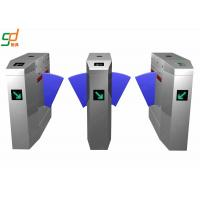Wholesale Customized Security Automatic Falp Barrier Gate Double Card Reader Wing Gates from china suppliers