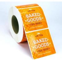 Wholesale Custom Glossy Sticker Labels Roll , Black Round Vinyl Label Stickers For Food from china suppliers