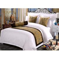 Wholesale Jacquard Premium Quality Hotel Bed Runners Sheet Sets Yellow from china suppliers