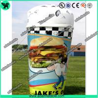 Wholesale Customized Advertising Inflatable Icecream Cup Replica Model from china suppliers