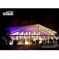 Wholesale Aluminum Frame Transparent Roof Luxury Wedding Tents , Temporary Outdoor Event Tents from china suppliers
