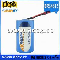 Wholesale ER34615 with connector 3.6V 19000mAh  d cell lithium battery from china suppliers