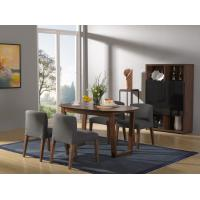 Wholesale 2016 New Nordic Design Dining Room Furniture sets by Walnut wood table with Fabric upholstered Chair with Buffet cabinet from china suppliers