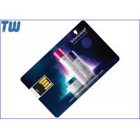 Mini UDP Chip Swing USB Credit Card Pen Drive Full Color Printing for sale