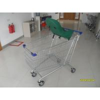 Buy cheap 210L Supermarket Shopping Carts Grocery Shopping Carts With Baby Capsule from wholesalers