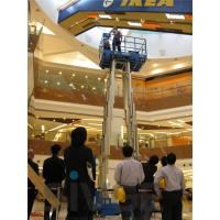 Quality Aerial Work Hydraulic Lift Ladder Four Mast 16m Working Height For Maintenance for sale