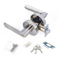 Wholesale Satin Nickel Lever Set Lock Living Room Bedroom Bathroom Tubular Door Handle Lock from china suppliers