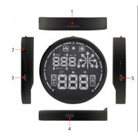 Wholesale Universal Car Diagnostic Computer HUD Head Up Display OBDII KMH / MPH Overspeed Alarm from china suppliers