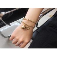 Wholesale Tiffany Hardwear 18K Gold Diamond Bracelet With Unisex Ball And Chain Design from china suppliers
