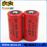 Wholesale ICR18350 700mAh 3.7V li-ion battery 18350 for led, cordless phone, home application from china suppliers