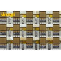 Wholesale Natural Graceful Bathroom Glass And Metal Mosaic Tile With Non slip from china suppliers