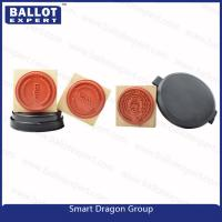 "Quality Custom Pre ink Wood Rubber Ink Stamp for Election Personal Use - 1 1/2"" Round for sale"