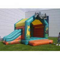 Quality Elephant Inflatable Combo Jungle Bouncy Castle Slide Hire For Play Park for sale