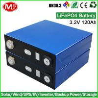 Wholesale 3.2V 120Ah LiFePO4 Battery cell for 12V 24V solar power battery storage from china suppliers