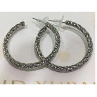 Wholesale (E-71)Women's Jewelry Silver Plated Twist Cable Hoop Earrings for Women Gift from china suppliers