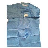Wholesale Sterile Fabric Reinforced Disposable Surgical Gowns 50 Gsm Thickenss from china suppliers