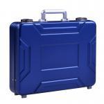 China MS-M-05 Anodize Blue Aluminum Suitcase Briefcase For Sale Aluminum Model Case for sale