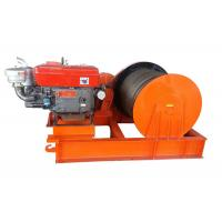 China Compact 5T Variable Speed Diesel Engine Power Winch For Cable Pulling on sale