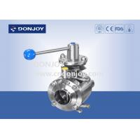 """Wholesale 4"""" Manul mixing proof stainless butterfly valve , industrial ss butterfly valve from china suppliers"""