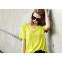 China 100% Cotton Women's T - Shirts Loose Fashion Color Double Car Line Charm on sale