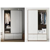 Wholesale White Lacquer Bedroom Armoire Wardrobe Closet , European Style Wooden Wardrobe Closet from china suppliers
