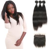 Wholesale Raw Curly Indian Natural Human Hair Extensions 3 Bundles With Frontal Closure from china suppliers