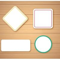 Wholesale Self Adhesive Blank Sticker Labels , Customized Blank Mailing Address Labels from china suppliers